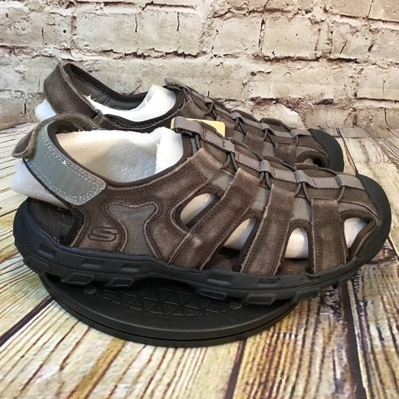 Mens Leather Fisherman Sandals Size 11